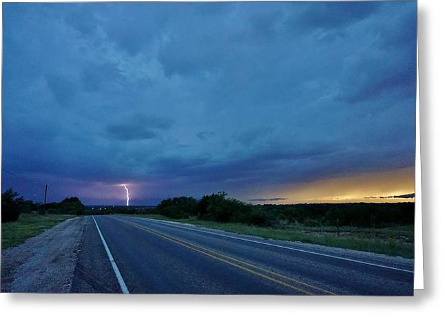 Lightning Over Sonora Greeting Card