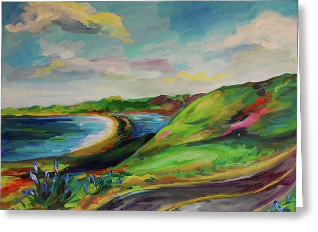 Road To Stinson Greeting Card by Danielle Hacker