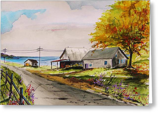 Road To The Bay Greeting Card by John Williams