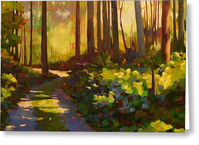 Road To The Cabin Greeting Card by Mary McInnis