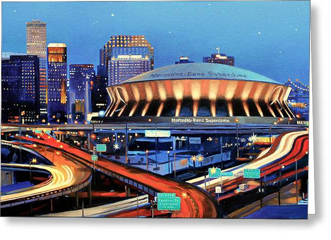 Road To The Dome Greeting Card by Mike Roberts
