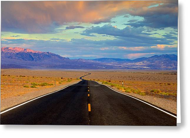 Greeting Card featuring the photograph Road To The Dreams by Evgeny Vasenev