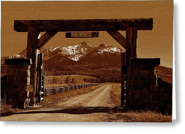 Road To The Last Dollar Greeting Card by David Lee Thompson