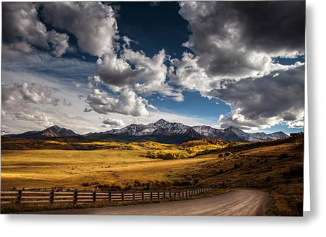 Road To The Rockies Greeting Card by Andrew Soundarajan