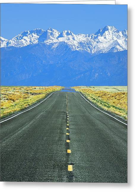 Road To The Sangre De Cristo Mountains Greeting Card