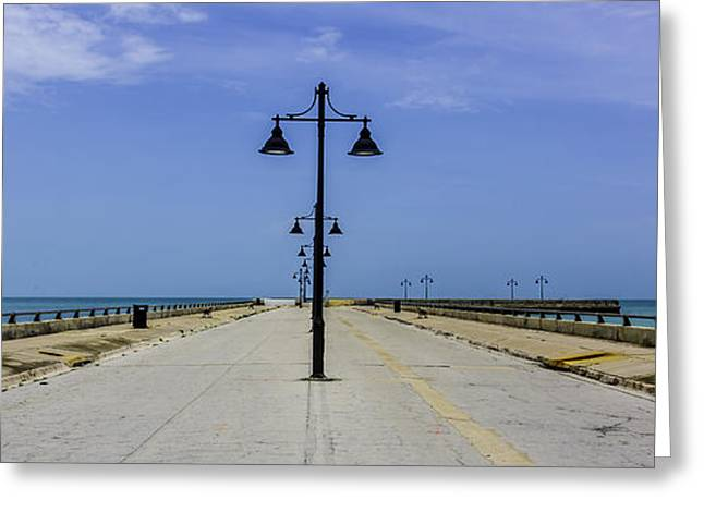 Greeting Card featuring the photograph Road To The Sea by Paula Porterfield-Izzo