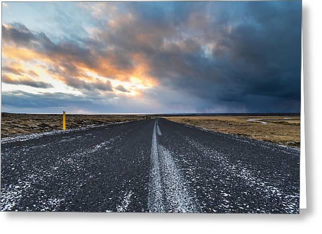 Road To The Sky Greeting Card