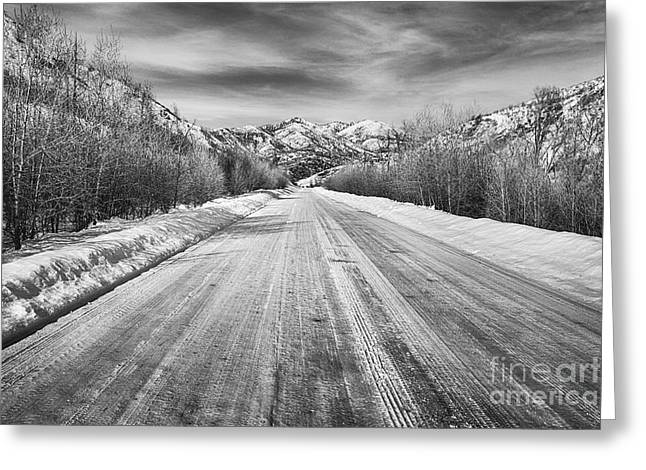Road To The Slopes Greeting Card by David Millenheft