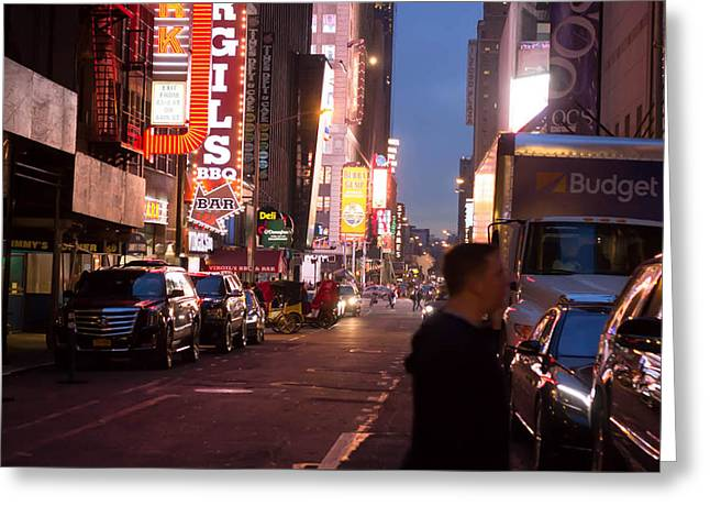 Road To Time Square  Greeting Card