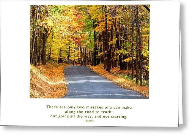 Greeting Card featuring the photograph Road To Truth by Kristen Fox
