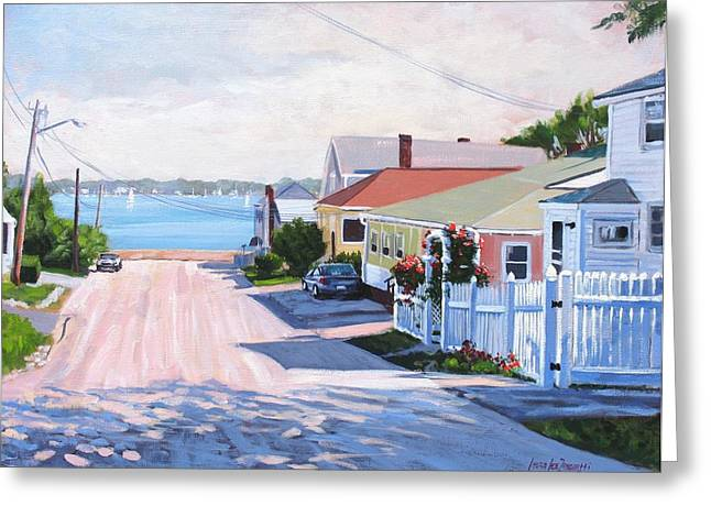 Road To Wessagussett Greeting Card by Laura Lee Zanghetti