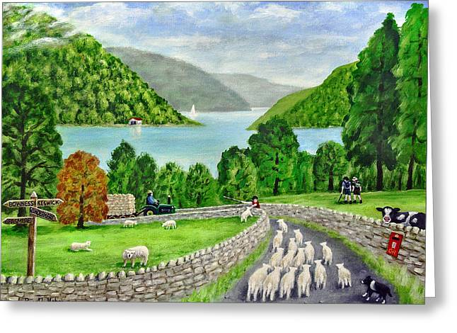 Road To Windermere Greeting Card