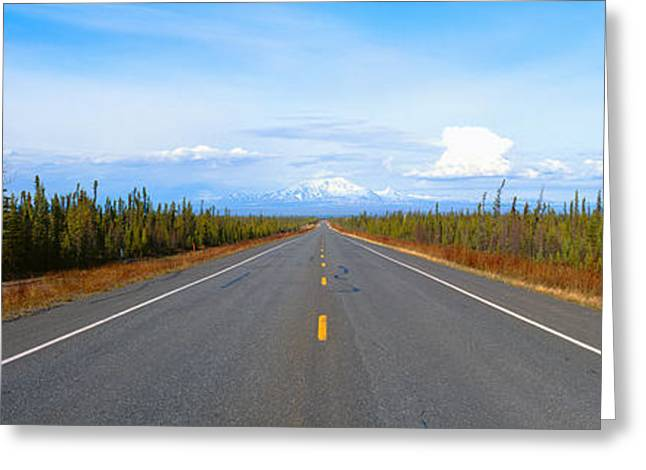 Road To Wrangell, St. Elias National Greeting Card by Panoramic Images