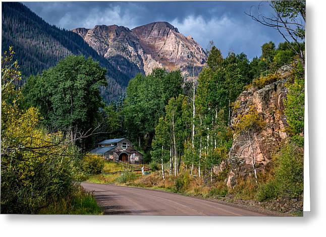 Road Towards Cinnamon Pass Greeting Card by Michael J Bauer
