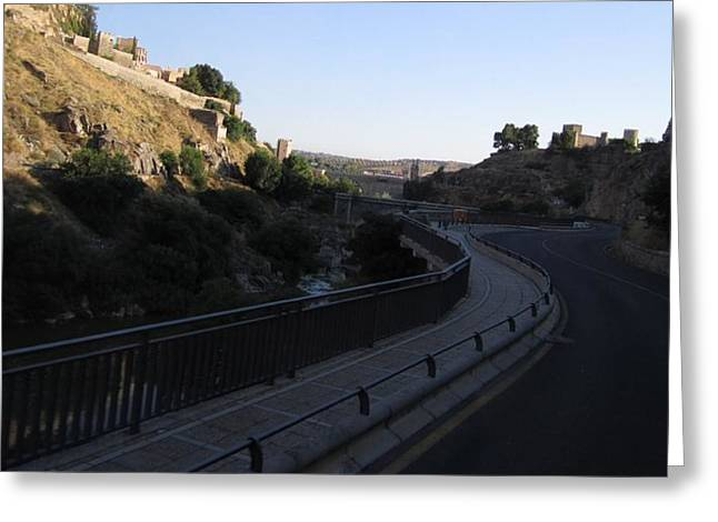 Road Towards Toledo Greeting Card