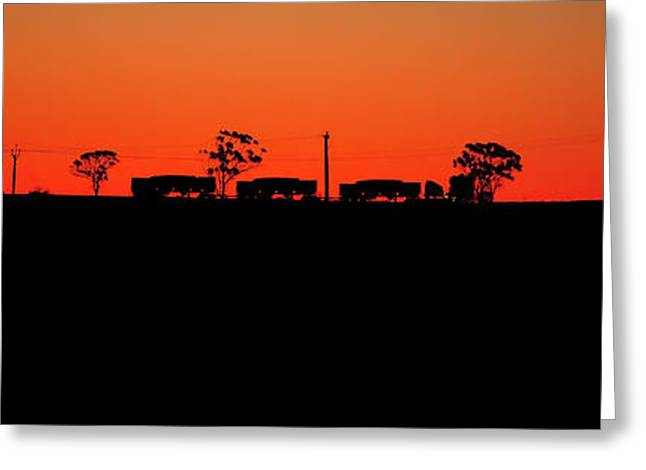 Road Train Sunset Greeting Card