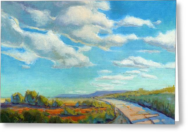 Greeting Card featuring the painting Road Trip 2 by Konnie Kim
