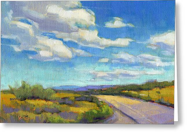 Greeting Card featuring the painting Road Trip - Study by Konnie Kim