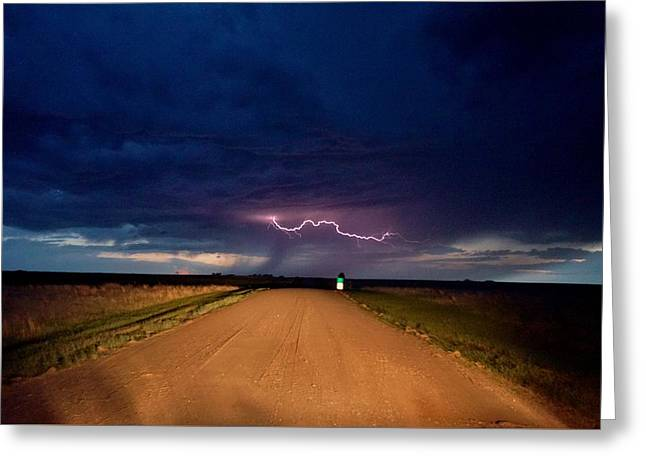 Road Under The Storm Greeting Card
