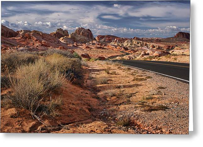 Road - Valley Of Fire - Nevada Greeting Card by Nikolyn McDonald