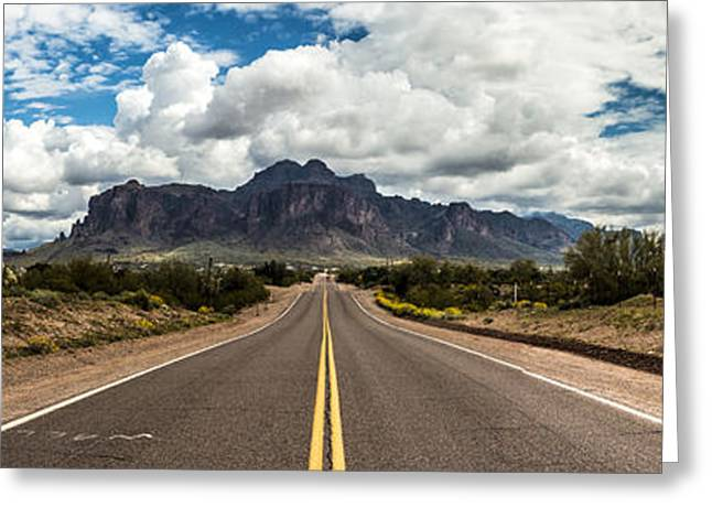 Road View Greeting Card by Chuck Brown