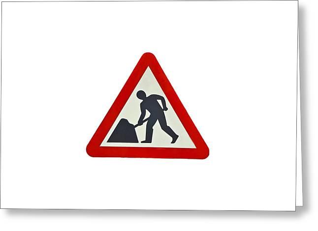 Road Work  Greeting Card by Enrico Della Pietra