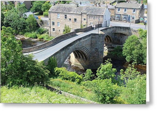 Roadbridge Over The River Tees Greeting Card