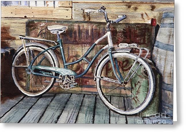 Roadmaster Bicycle Greeting Card by Joey Agbayani
