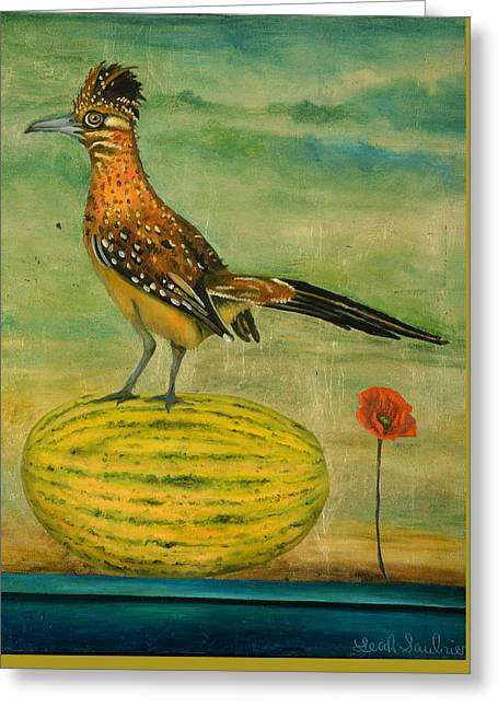 Roadrunner On A Melon Greeting Card