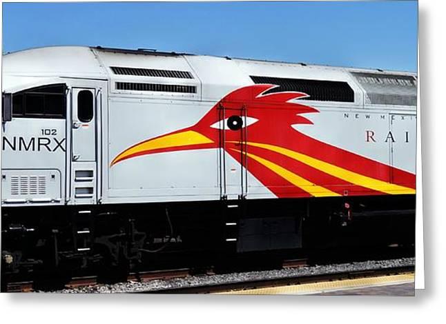 Roadrunner Train Greeting Card by Joseph Frank Baraba