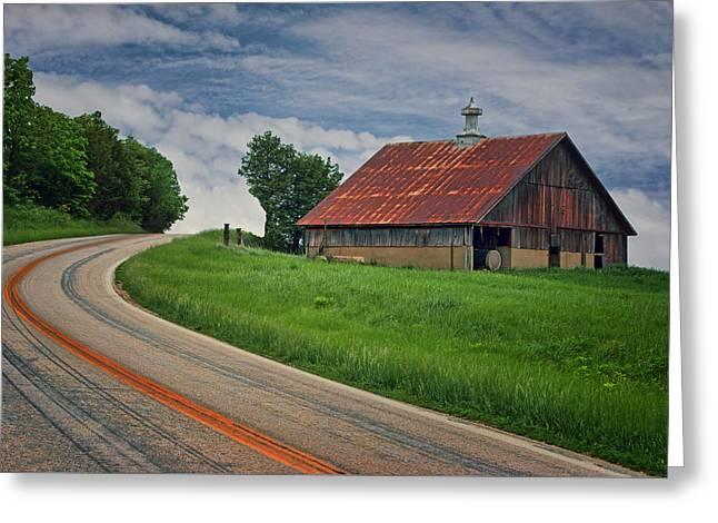 Roadside - Barn - Missouri Greeting Card