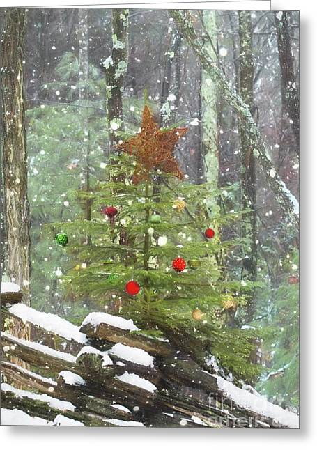 Roadside Christmas Cheer Greeting Card