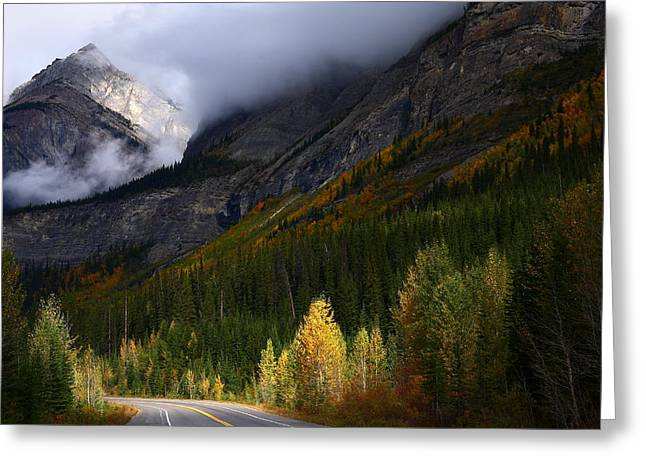 Roadside Landscape At Banff National Park Greeting Card