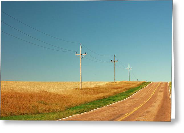 Roadside Poles Greeting Card