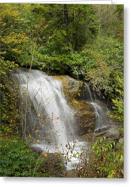 Greeting Card featuring the photograph Roadside Waterfall In North Carolina by Mike McGlothlen