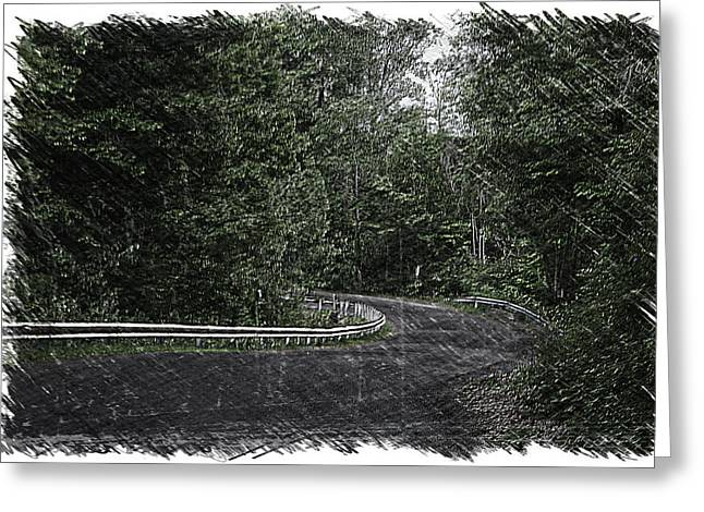 Roadway Fingers Lakes New York Area Pa 02 Greeting Card by Thomas Woolworth