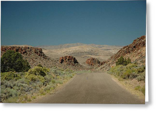 Roadway To Peace Greeting Card by Lori Mellen-Pagliaro