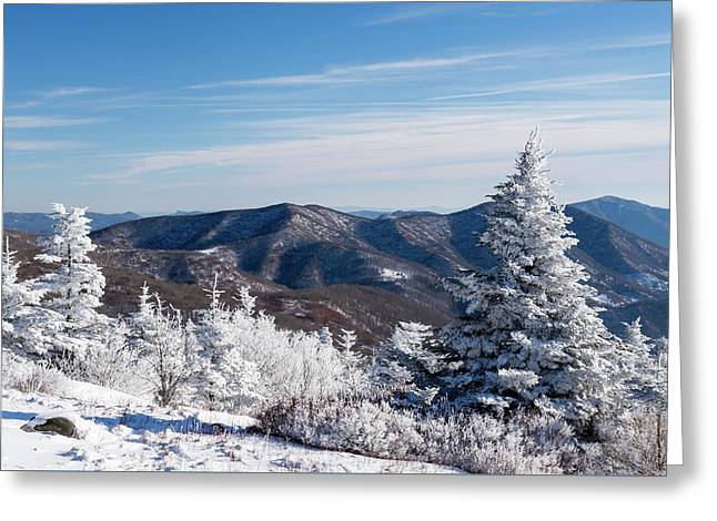 Roan Mountain In The Winter Greeting Card by Serge Skiba