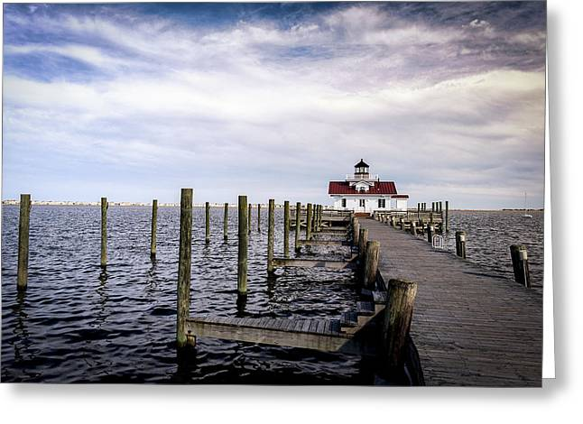 Roanoke Lighthouse - Manteo North Carolina Greeting Card
