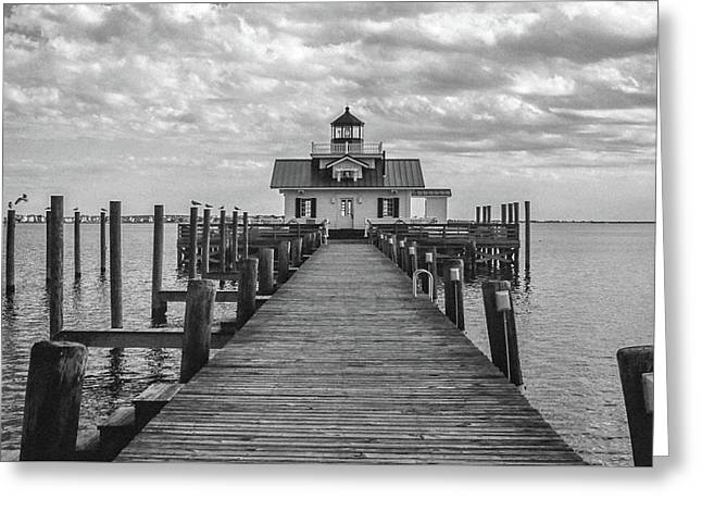 Roanoke Marshes Light Greeting Card