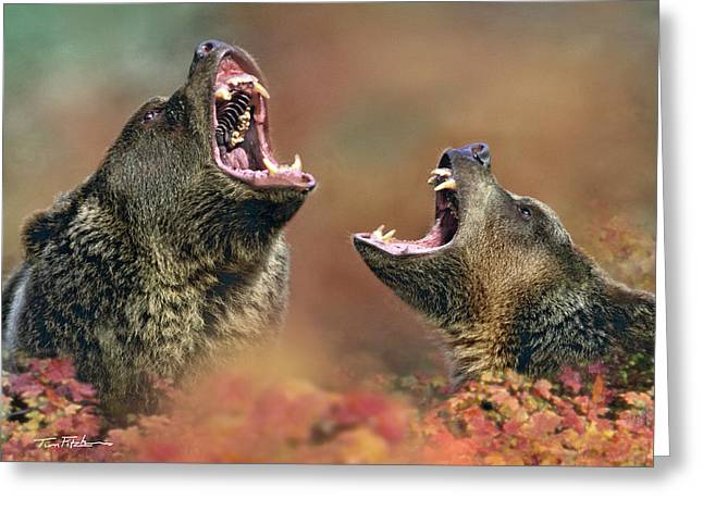 Roaring Bears Greeting Card