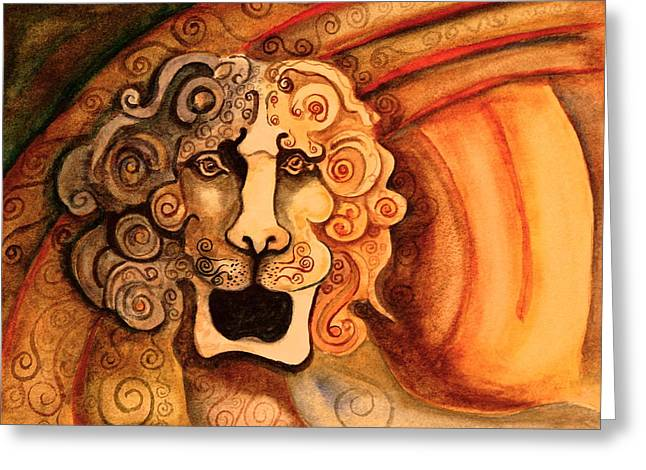 Roaring Lion  Greeting Card by Dan Earle
