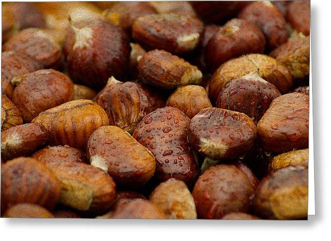 Roasted Chestnuts Closeup Greeting Card by Design Turnpike