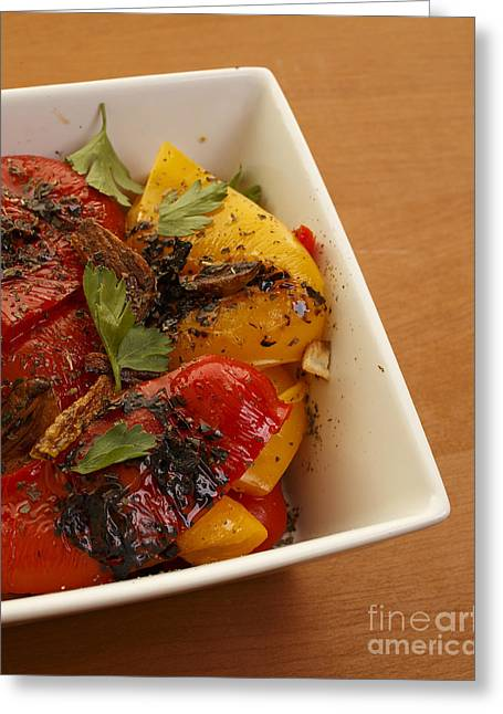 Roasted Peppers Greeting Card