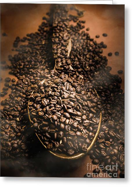 Roasting Coffee Bean Brew Greeting Card