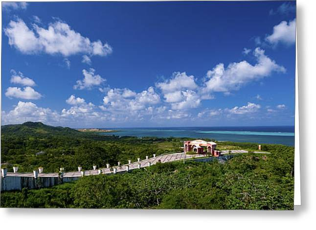 Roatan Lookout Greeting Card by Ryan Heffron