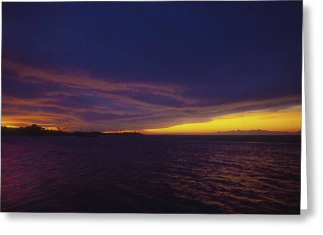 Greeting Card featuring the photograph Roatan Sunset by Stephen Anderson