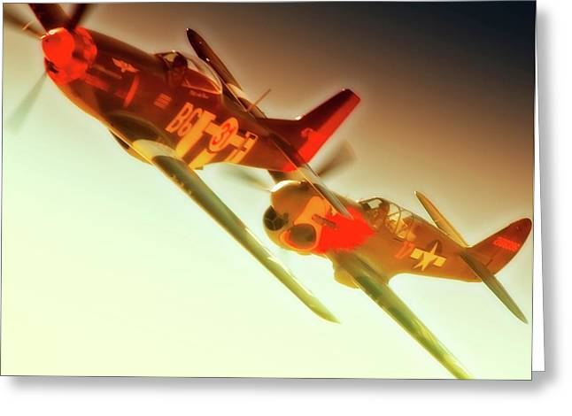 Rob Gordon Race 31 And Jc Paul Race 17 2010 Reno Air Races Greeting Card by Gus McCrea