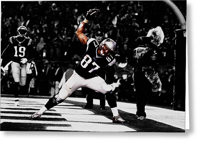 Rob Gronkowski Greeting Card by Brian Reaves