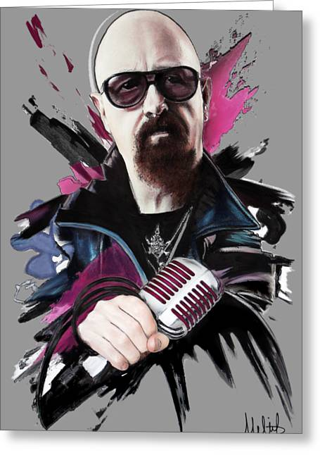 Rob Halford Greeting Card by Melanie D